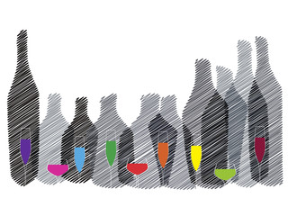 Alcohol illustration background
