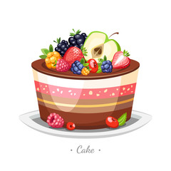 cake with fruits and candles holiday