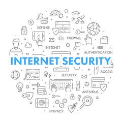 Line design concept for internet security