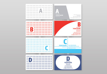 Letter Pattern Element Business Card Layouts 1