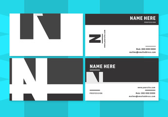 Bold Black and White Business Card Layouts 1