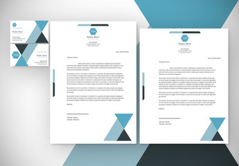 Blue Tone Abstract Element Business Layout Pack 1