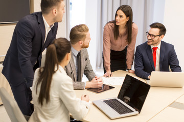 Young people have teamwork in the office