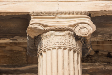 Detail of an Ionic column from the Erechtheion on the Acropolis Hill