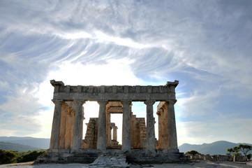 Grece - ile d'Egine - temple de Aphaia