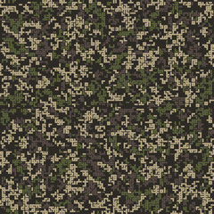 Seamless pattern. Abstract military or hunting camouflage background. Winter shades. Made from geometric shapes. Labyrinth style.