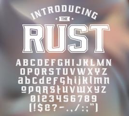 strength typeface RUST