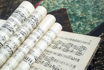 Alte Musiknoten, Vintage