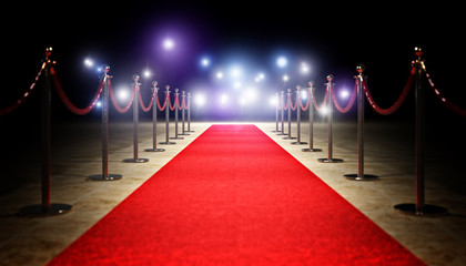 red carpet and barrier