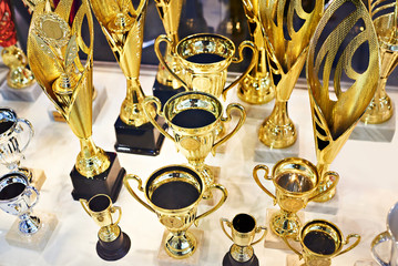 Award gold cups