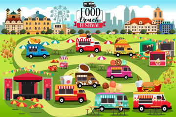 Food Trucks Festival Map