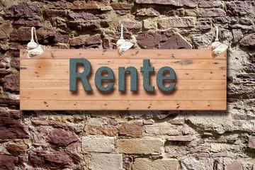 Schild 209 - Rente