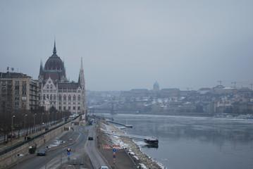 Fond de hotte en verre imprimé Vienne Parlement de Budapest