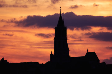 Rottweil Abend Silhouette