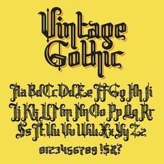 Vintage gothic typeface