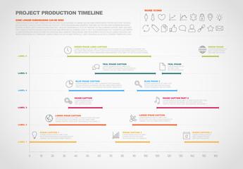 Horizontal Timeline Chart Infographic 1