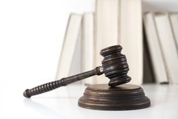 Law Symbols on white background