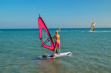 wind serfing in rhodes prasonisi Greece