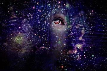 Female portrait in the Universe