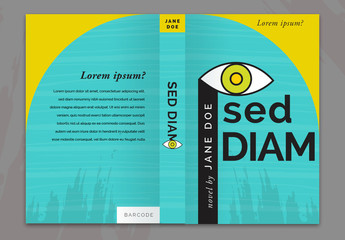 Yellow and Turquoise Book Cover Layout
