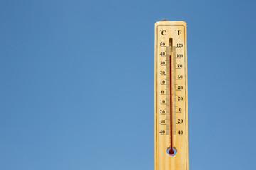 Mercury thermometer Summer heat