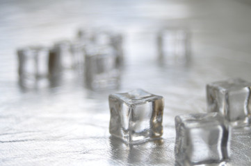 Ice on the table