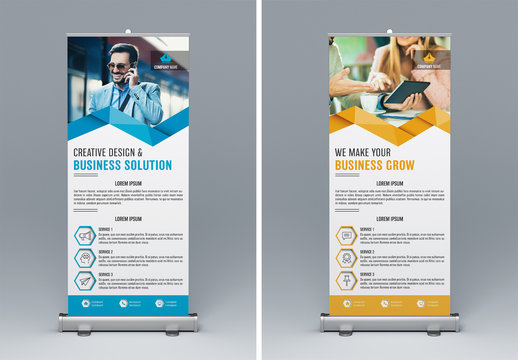 Two Marketing Kiosk Banners 1