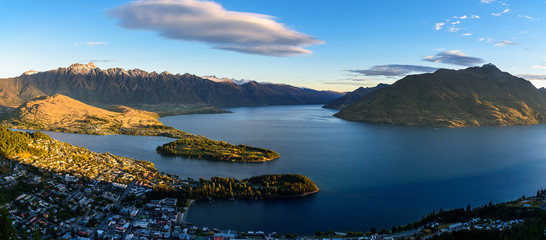 Queenstown in the evening
