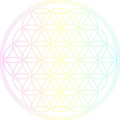 Blume des Lebens - Pastell