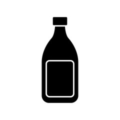 wine bottle icon over white background vector illustration