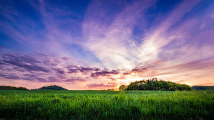 Colorful Sunset in Germany