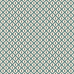 Minimalist abstract background. Simple modern print with arrows. Blue colors seamless pattern with geometric figures.