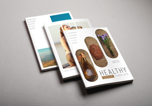 Fitness and Lifestyle Flyer Layout Set 2