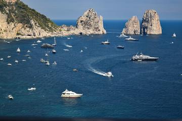 Capri shore with Faraglioni view, Italy