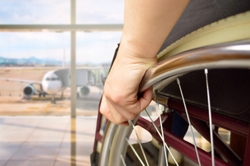 wheelchair man at airport