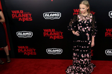 "Amiah Miller is seen on the red carpet at a screening of ""War for the Planet of the Apes"" in Manhattan"
