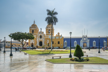 Main Square (Plaza de Armas) and Cathedral - Trujillo, Peru