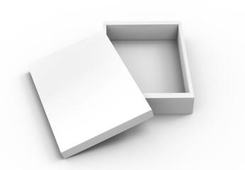 open flat blank box