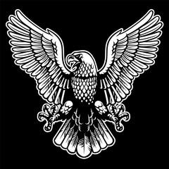 eagle black and white