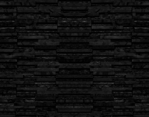 Black marble stone layer block wall texture background