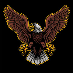 eagle spread his wings