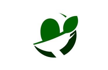 Q Green Circle Swoosh Letter Logo
