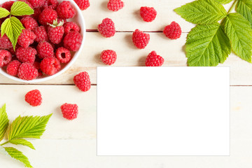 Fresh berries background. Copy space for your text.