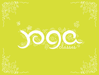 Vector illustration - Yoga classes