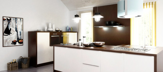 New kitchen (panoramic)