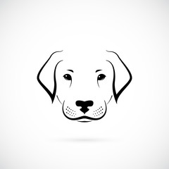 Dog labrador on white background. Design  sketch. Dog icon for your design.