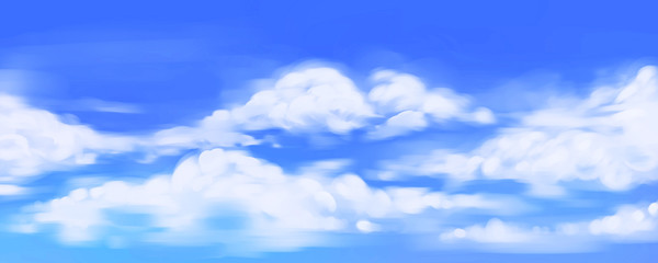 Painted blue sky