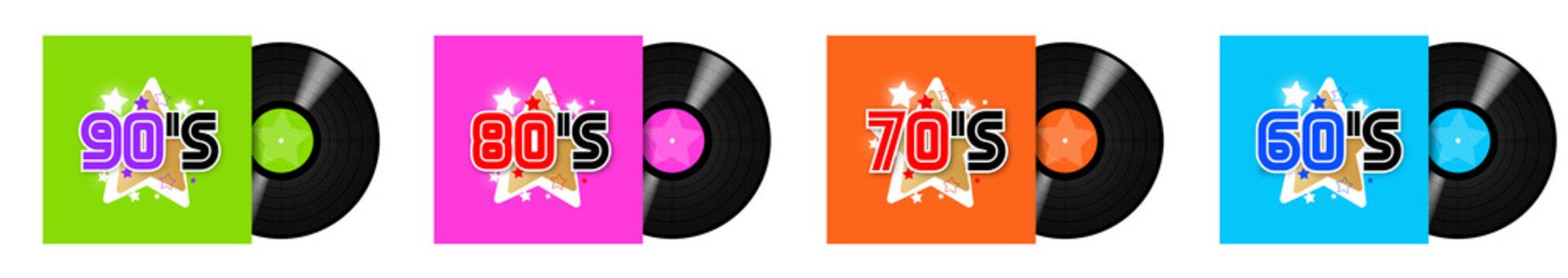 "60's, 70's, 80's, 90""s Record LP / 33 tours"