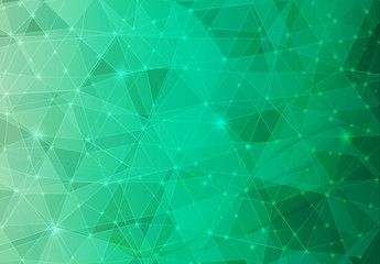 Green Polygonal Mosaic Background