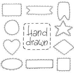 Vector hand drawn illustration. Big set frame.